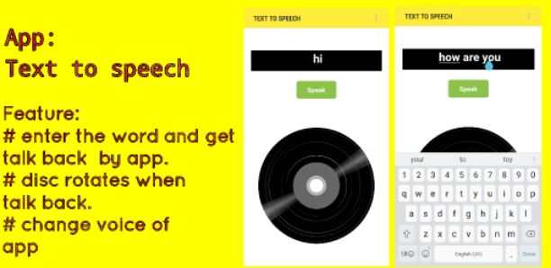 Text To Speech App aia file for thunkable – Free