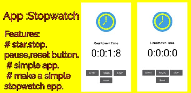 Stopwatch app aia file free Download for thunkable - Free