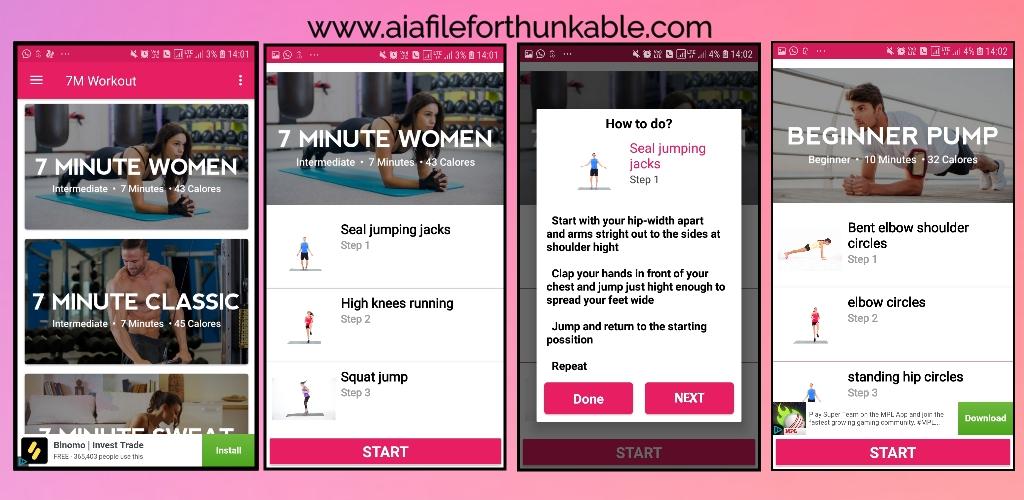 Workout app free aia file for kodular
