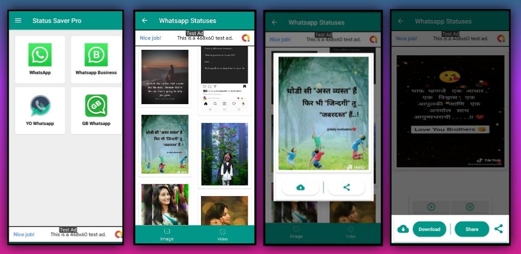 Whatsapp Status Saver Pro app aia file for Kodular
