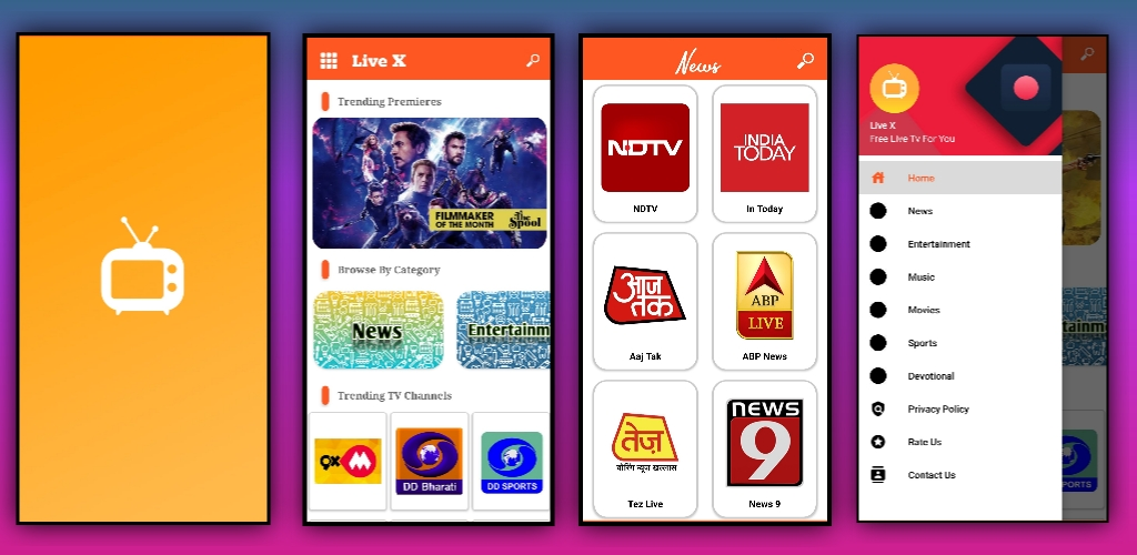 Live Tv app aia file for Kodular