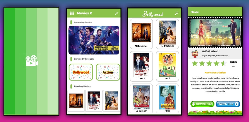 Movies Download and Streaming app aia file for Kodular